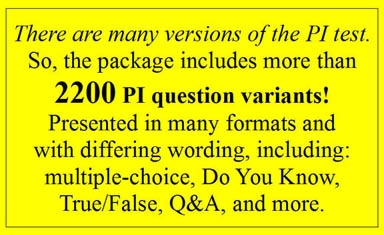 study guide questions for the ca pi license exam