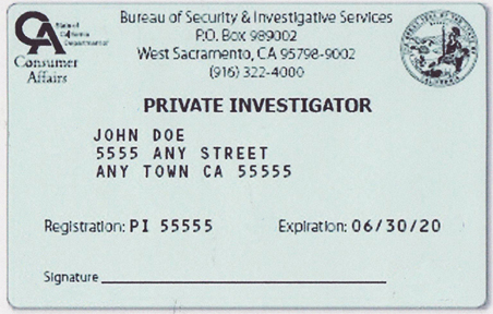 ... Pass Th California Private Investigator Testing